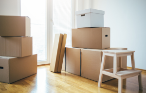 tenant turnover image: stack of moving boxes