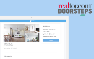 realtor.com listings image that features rentredi listings page with realtor.com and doorsteps logo