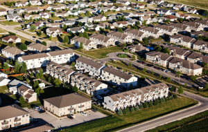 illinois landlord tenant laws image: aerial shot of apartments