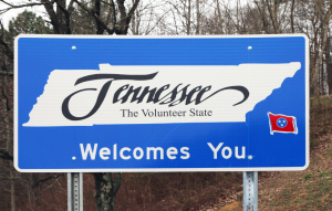 tennessee welcome sign for tennessee landlord tenant laws