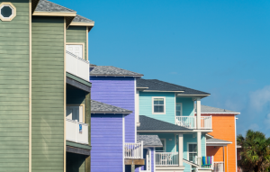 texas landlord tenant laws picture of brightly colored rental apartments in texas