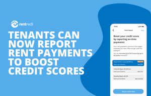 text reads: tenants can now report rent payments to boost credit scores