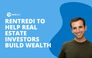 text reads: rentredi to help real estate investors build wealth through investing