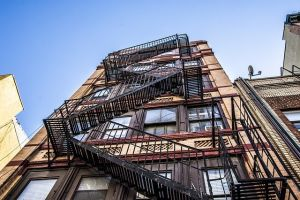 Shot of an apartment's fire escape for top safety tips for landlords and tenants