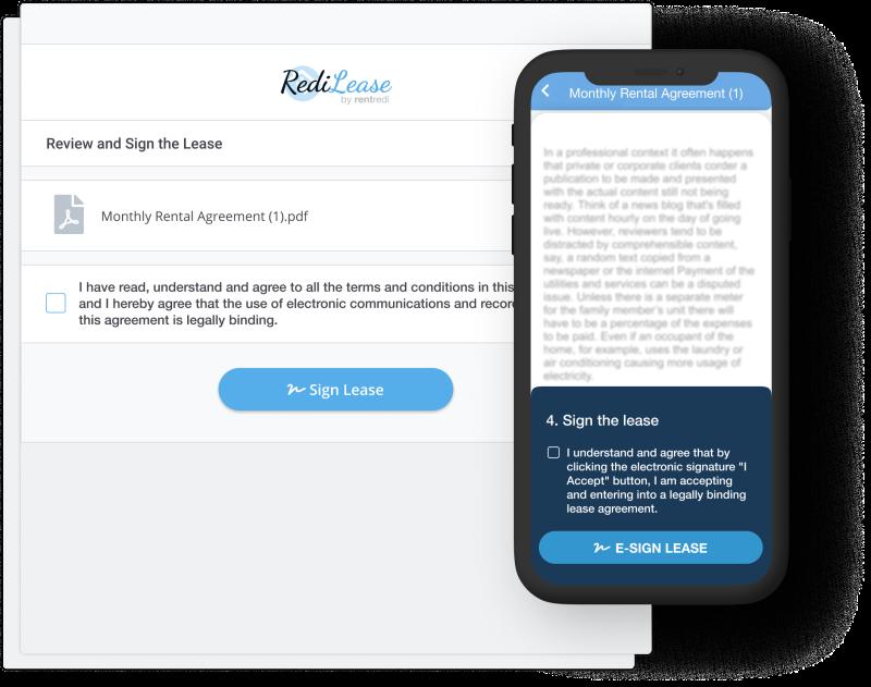 rentredi e-lease signing
