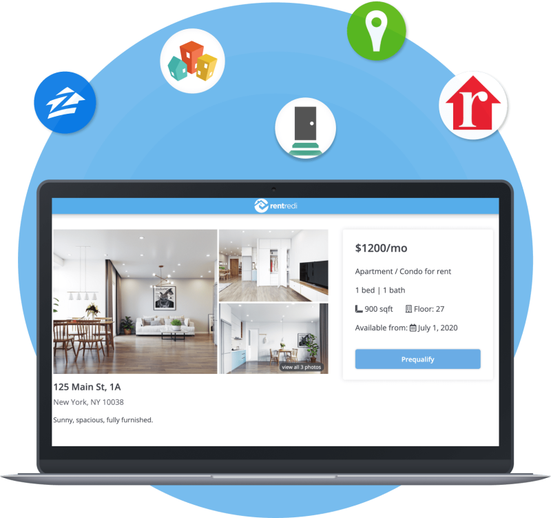with rentredi you can list your units on zillow, trulia, hotpads, rentredi, realtor.com and doorsteps