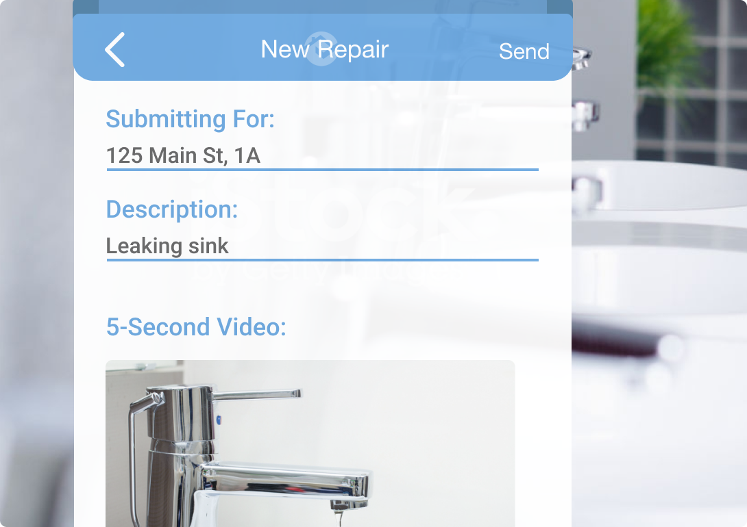 receive video maintenance with rentredi