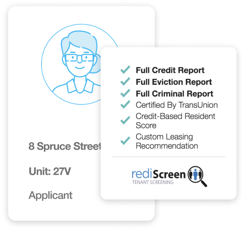 rentredi landlord software image: screen your applicants with rentredi