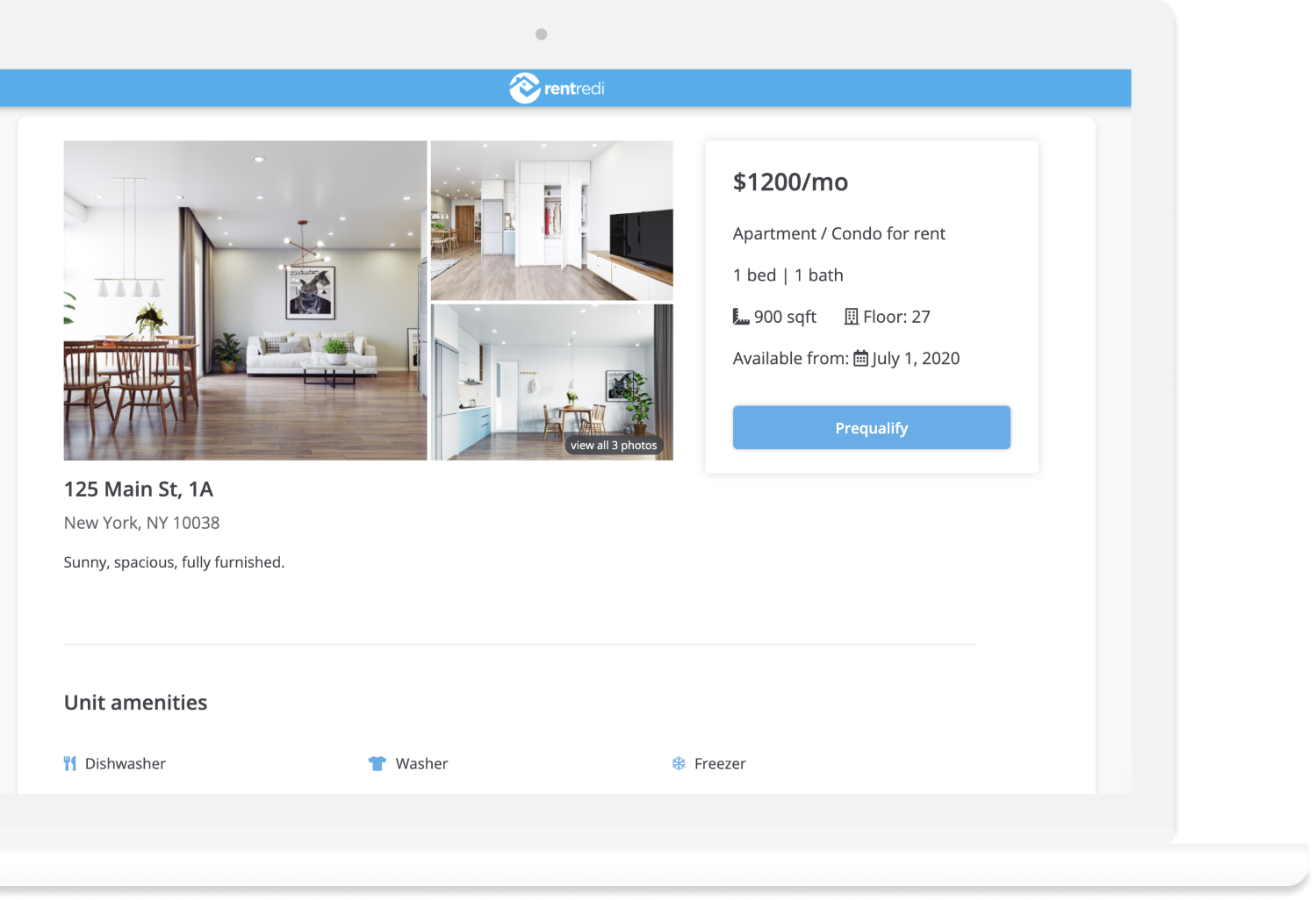 rentredi shareable listing page