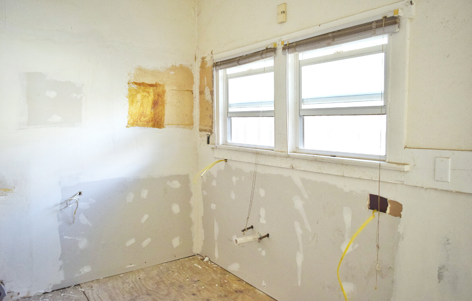 fix & flip house image: picture of an interior of a house undergoing renovations