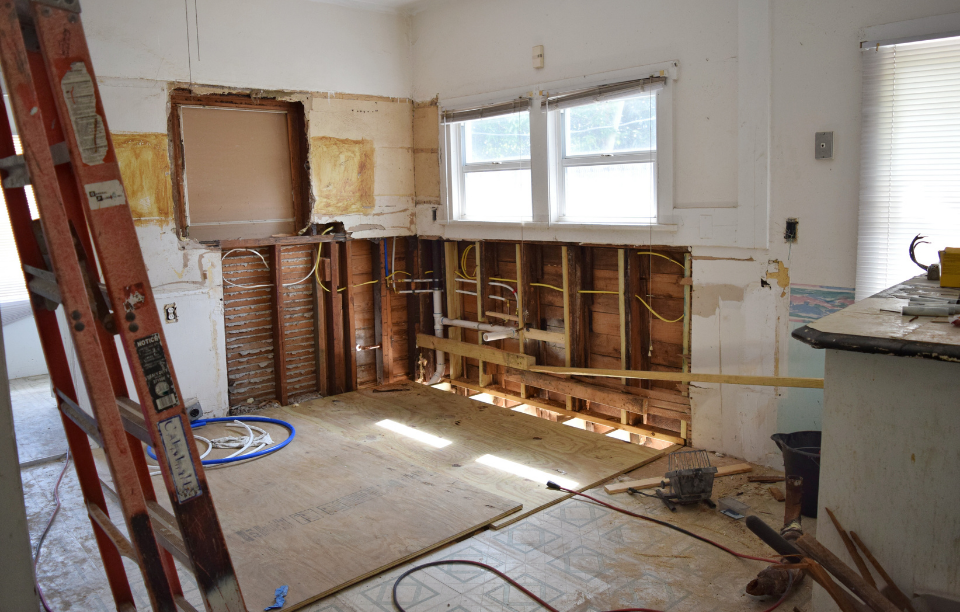interior shot of a house flip (room being renovated)