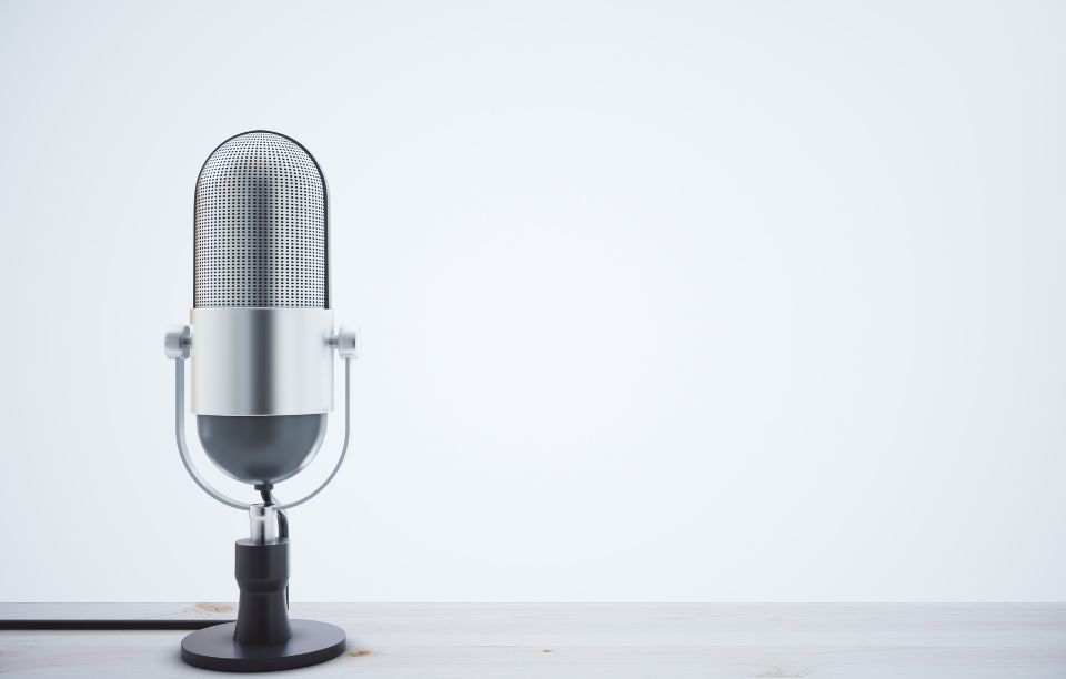 podcast mic for press release about the real estate pod