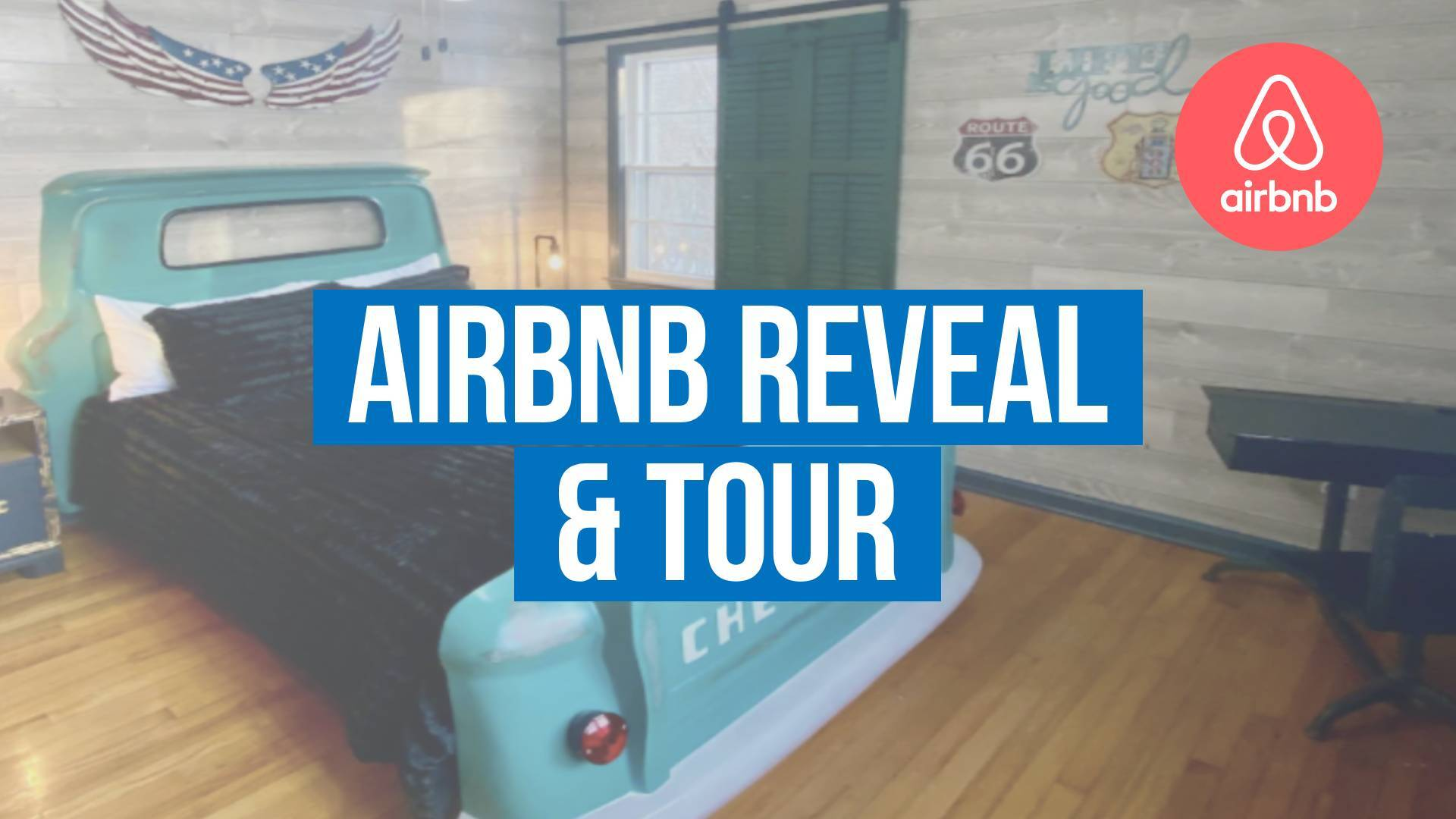 airbnb pricing strategy and reveal text overlaid on a image of a truck bed