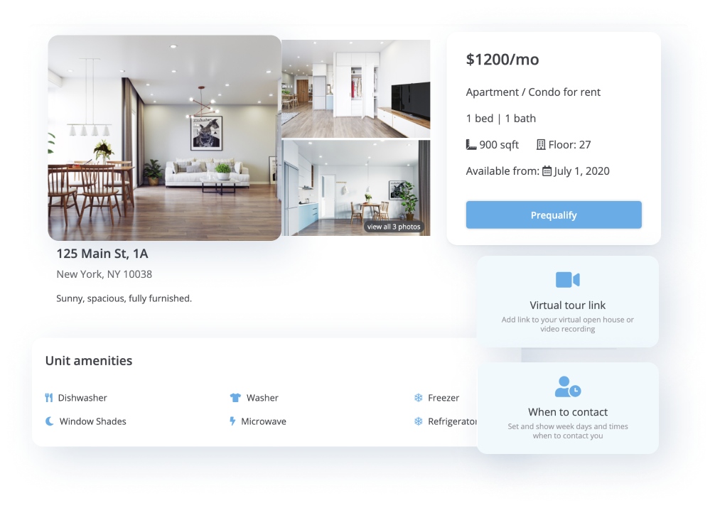 rentredi listing page features