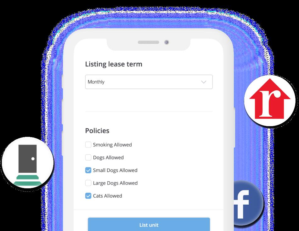 share rentredi listing anywhere