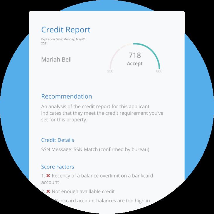 rentredi transunion tenant screening report