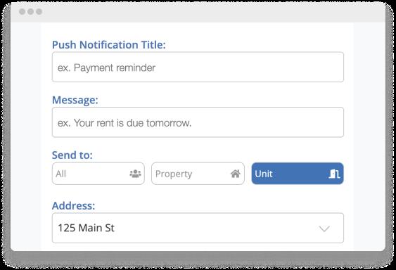 rentredi push notifications screen