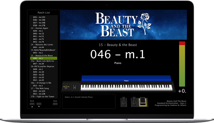 Beauty And The Beast - Screen Shot - MainStage keyboard programming for rent
