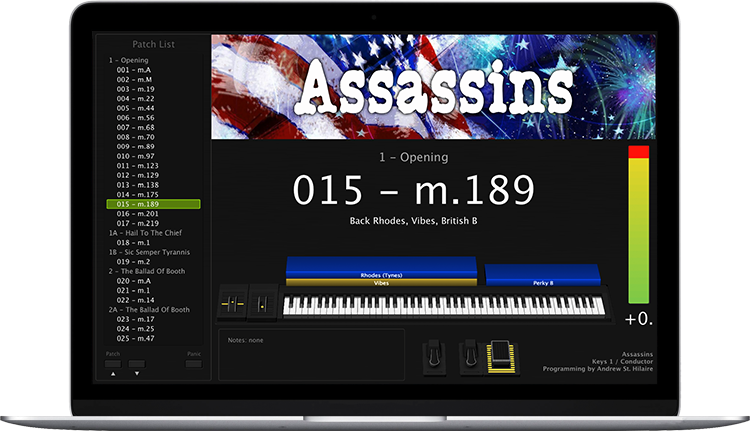 Assassins - Screen Shot - MainStage keyboard programming for rent