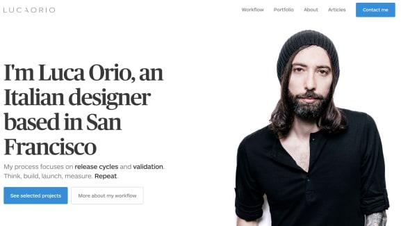 Homepage of lucaorio.com