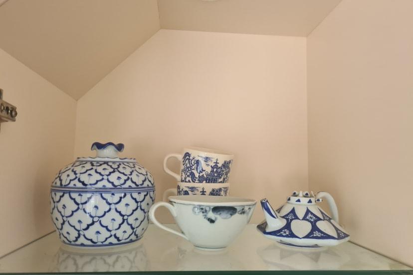 Blue and White Porcelain Table Decor