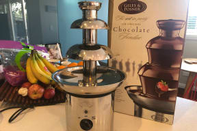 Chocolate Fountain for a decadent party centrepiece