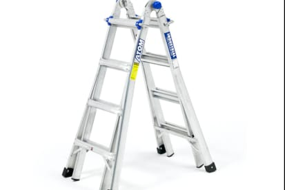 Multi position adjustable ladder