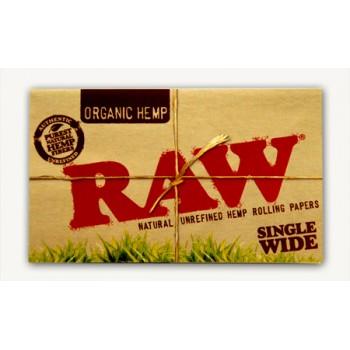 Foite rulat RAW - Organic Hemp WIDE Double (100)
