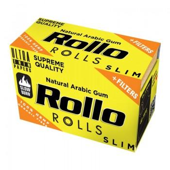 Foite rulat Rollo - Slim Rola YELLOW Hemp Organic + Filter Tips (4 m)