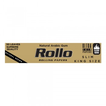 Foite rulat Rollo - Brown Slim King Size 110 mm (50)