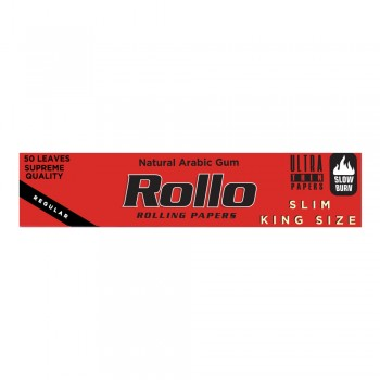 Foite rulat Rollo - Red Slim King Size 110 mm (50)