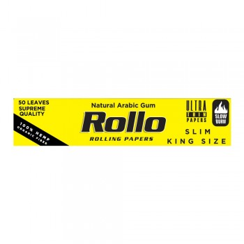 Foite rulat Rollo - Yellow Organic Slim King Size 110 mm (50)