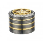 Grinder Champ - High Bling Bling Leaf Diamond 50 mm / 4 parti