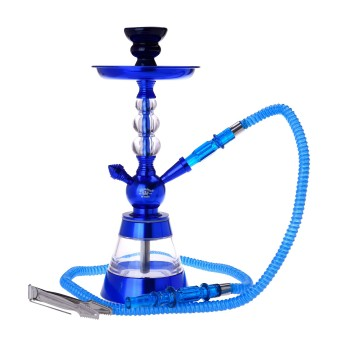 Narghilea Champ - AL Malik Bright Shiny BLUE (35 cm, un furtun)