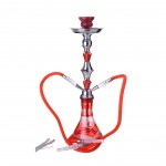 Narghilea Champ - Arabic Design RED (55 cm, doua furtunuri)