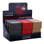 Tabachera Champ - husa pachet tigari Leather Look Finish (20)