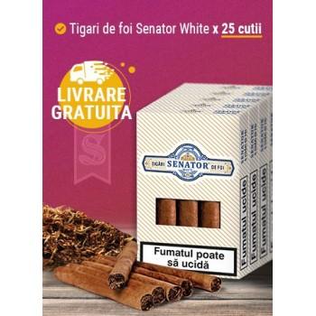 Pachet tigari de foi Senator WHITE (125)