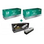 SET Korona Slim Menthol 500 (2 x 250 tuburi slim menthol) + aparat