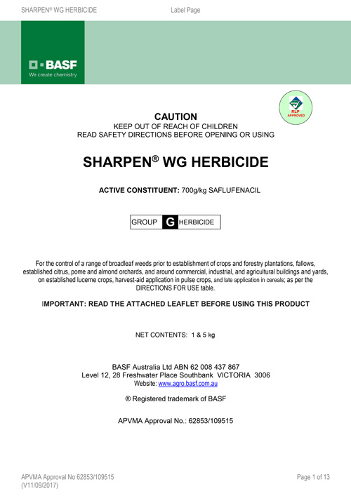 Sharpen - Product Label
