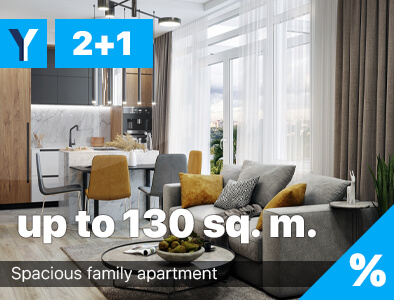 Three-room apartments in North Cyprus