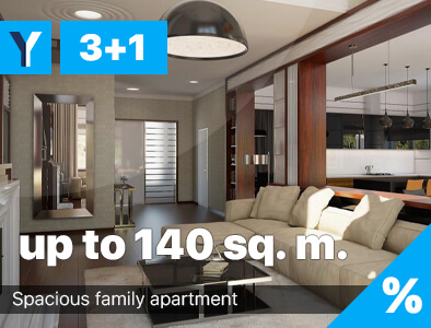 Four-room apartments in North Cyprus