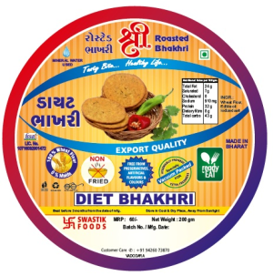 Diet Rosted Bhakhri Vaccume 200g X 2 Pack
