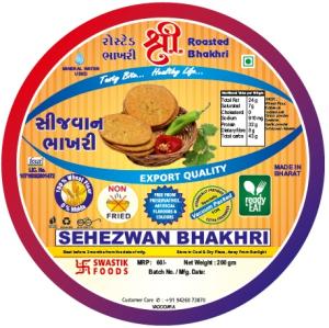 Sezewan Rosted Bhakhri Vaccume 200g X 2 Pack