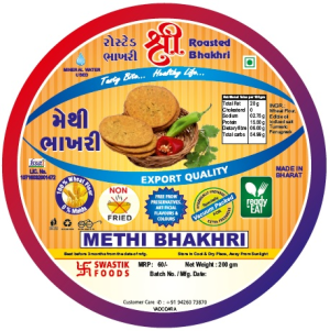 Methi Rosted Bhakhri Vaccume 200g X 2 Pack