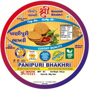 Panipuri Rosted Bhakhri Vaccume 200g X 2 Pack