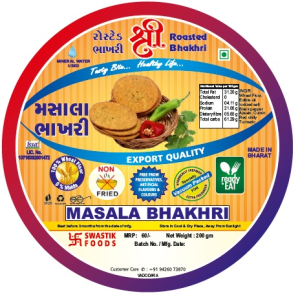 Masala Rosted Bhakhri Vaccume 200g X 2 Pack