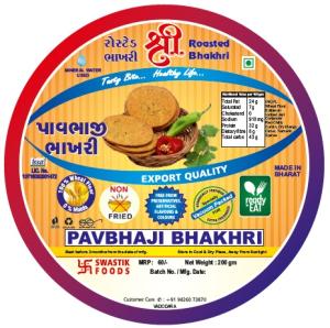 Pavbhaji Rosted Bhakhri Vaccume 200g X 2 pack