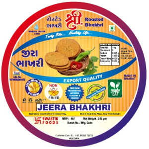 Jeera Rosted Bhakhri Vaccume 200g X 2 Pack