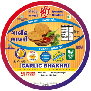 Garlick Rosted Bhakhri Vaccume 200g X 2Pack