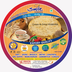Cream & Onion KHAKHRA  - vacuum 200g X 2 Pack